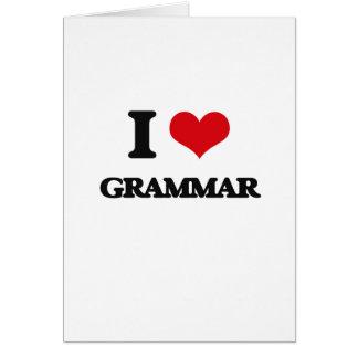 Cartes J'aime la grammaire