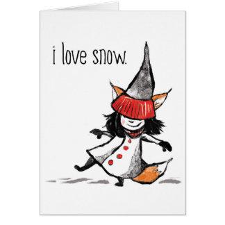 Cartes j'aime la neige
