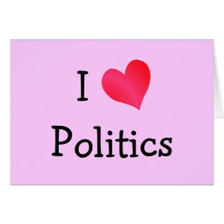 Cartes J'aime la politique