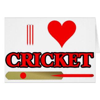 Cartes J'aime le cricket