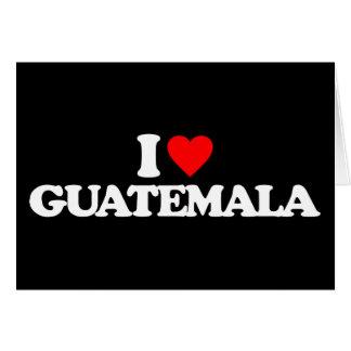CARTES J'AIME LE GUATEMALA