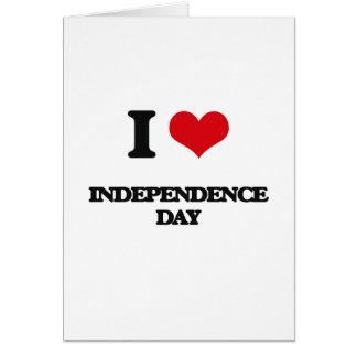 Cartes J'aime le Jour de la Déclaration d'Indépendance