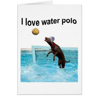 Cartes J'aime le polo d'eau
