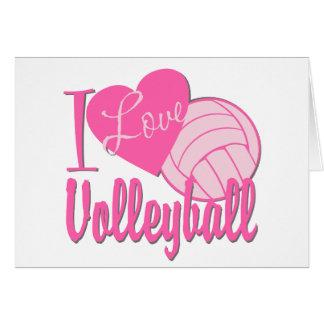 Cartes J'aime le rose de volleyball