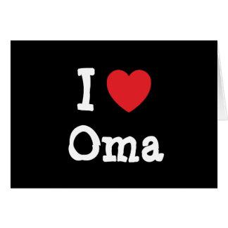 Cartes J'aime le T-shirt de coeur d'Oma