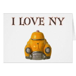 Cartes J'aime le taxi Checkered jaune de New York