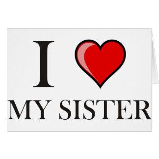 Cartes J'aime ma soeur