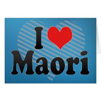 Cartes J'aime maori