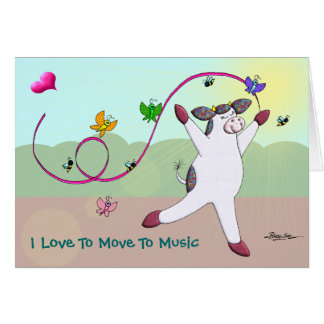 Cartes J'aime me déplacer à la musique