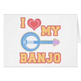 Cartes J'aime mon banjo