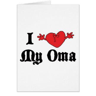 Cartes J'aime mon cadeau d'Oma