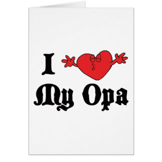 Cartes J'aime mon cadeau d'Opa