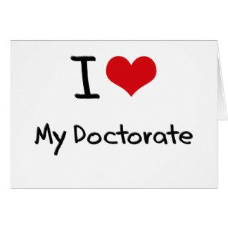 Cartes J'aime mon doctorat