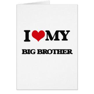 Cartes J'aime mon frère