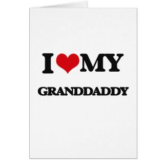 Cartes J'aime mon Granddaddy
