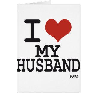 Cartes J'aime mon mari