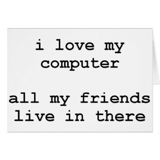 Cartes j'aime mon ordinateur