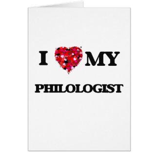 Cartes J'aime mon philologue