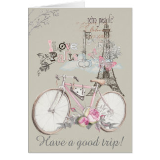 Cartes J'aime Paris. Ayez un bon voyage !