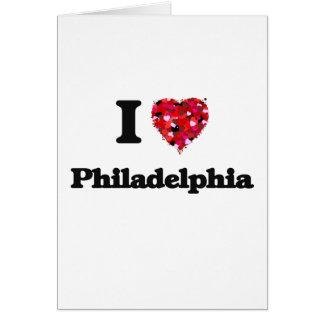 Cartes J'aime Philadelphie Pennsylvanie