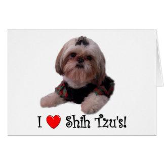 Cartes J'aime Shih Tzu