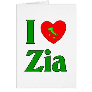Cartes J'aime Zia (la tante italienne)