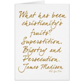 Cartes James Madison sur le christianisme