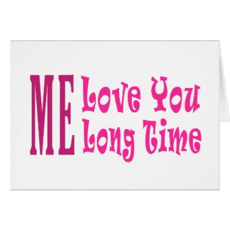 Cartes J'amour vous long temps