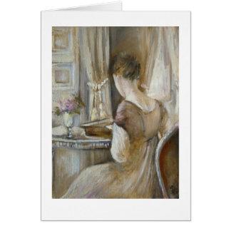 Cartes ♕ Jane Austen - un ♕ du © H.Flont de dame de