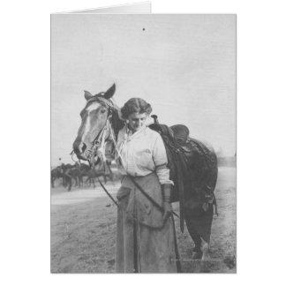 Cartes Jane Bernoudi et son cheval