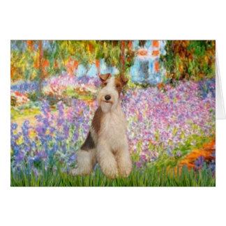 Cartes Jardin - Fox Terrier 3 de fil