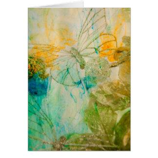 """Cartes """"Jardin mystique - collection de papillons d'or"""""""
