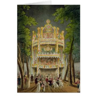 Cartes Jardins de Vauxhall, 1808