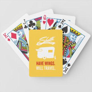 Cartes jaunes de camping du campeur rv de Shasta Cartes À Jouer
