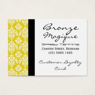 Cartes jaunes de fidélité de client professionnel