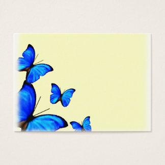 Cartes jaunes et bleues d'endroit de mariage