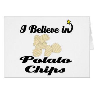 Cartes je crois aux pommes chips