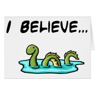 Cartes Je crois en monstre de Loch Ness