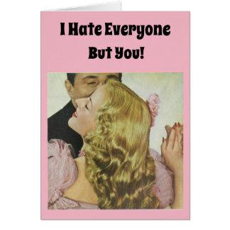 Cartes Je déteste chacun mais vous !
