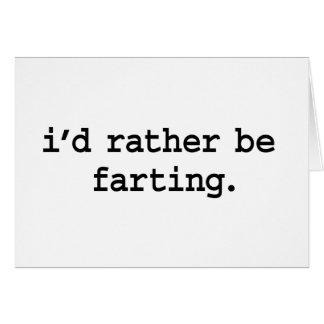 Cartes je farting. plutôt