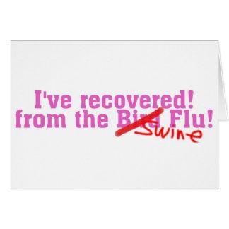 Cartes Je n'ai récupéré de l'oiseau aucune grippe de