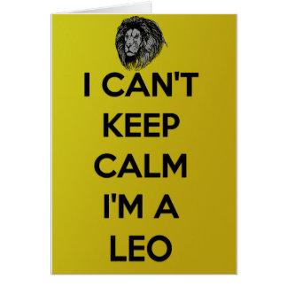 Cartes Je ne peux pas garder le calme que je suis un Lion