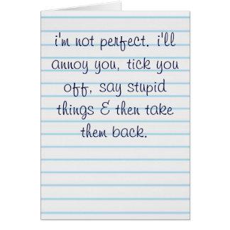 Cartes Je ne suis pas parfait