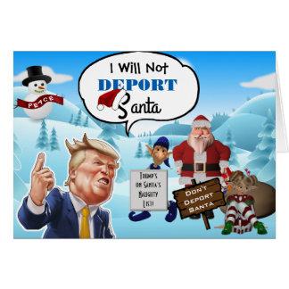 """Cartes """"Je Noël drôle d'atout n'expulserai pas Père Noël"""""""