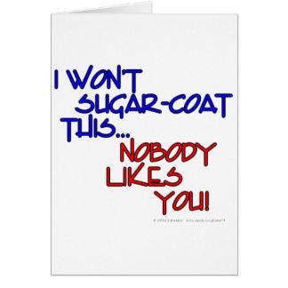 Cartes Je pas sucre-manteau ceci… que personne ne vous
