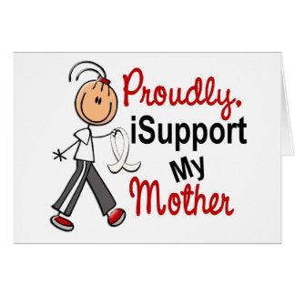 Cartes Je soutiens ma mère SFT (le cancer d'os/poumon)