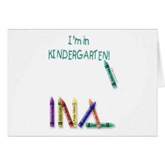 Cartes Je suis dans le jardin d'enfants