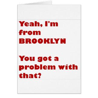 Cartes Je suis de Brooklyn
