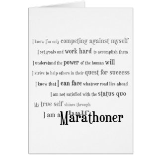 Cartes Je suis demi de félicitations d'un Marathoner