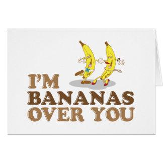 Cartes Je suis des bananes au-dessus de vous - des